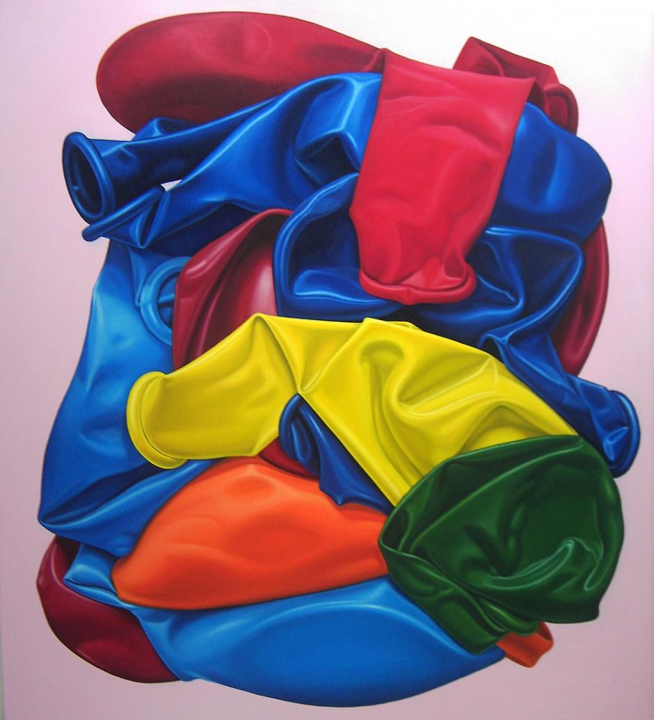 2 Tütenpartymix 3, Öl auf Leinwand, 205 x 190 cm, 2008