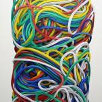 Gummiringe 6 Öl auf Leinen, 135 x 80 cm, 2014