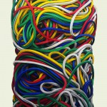 Gummiringe 6, Öl auf Leinen, 135 x 80 cm, 2014
