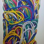 Gummiringe 7, Öl auf Leinen, 135 x 80 cm, 2014