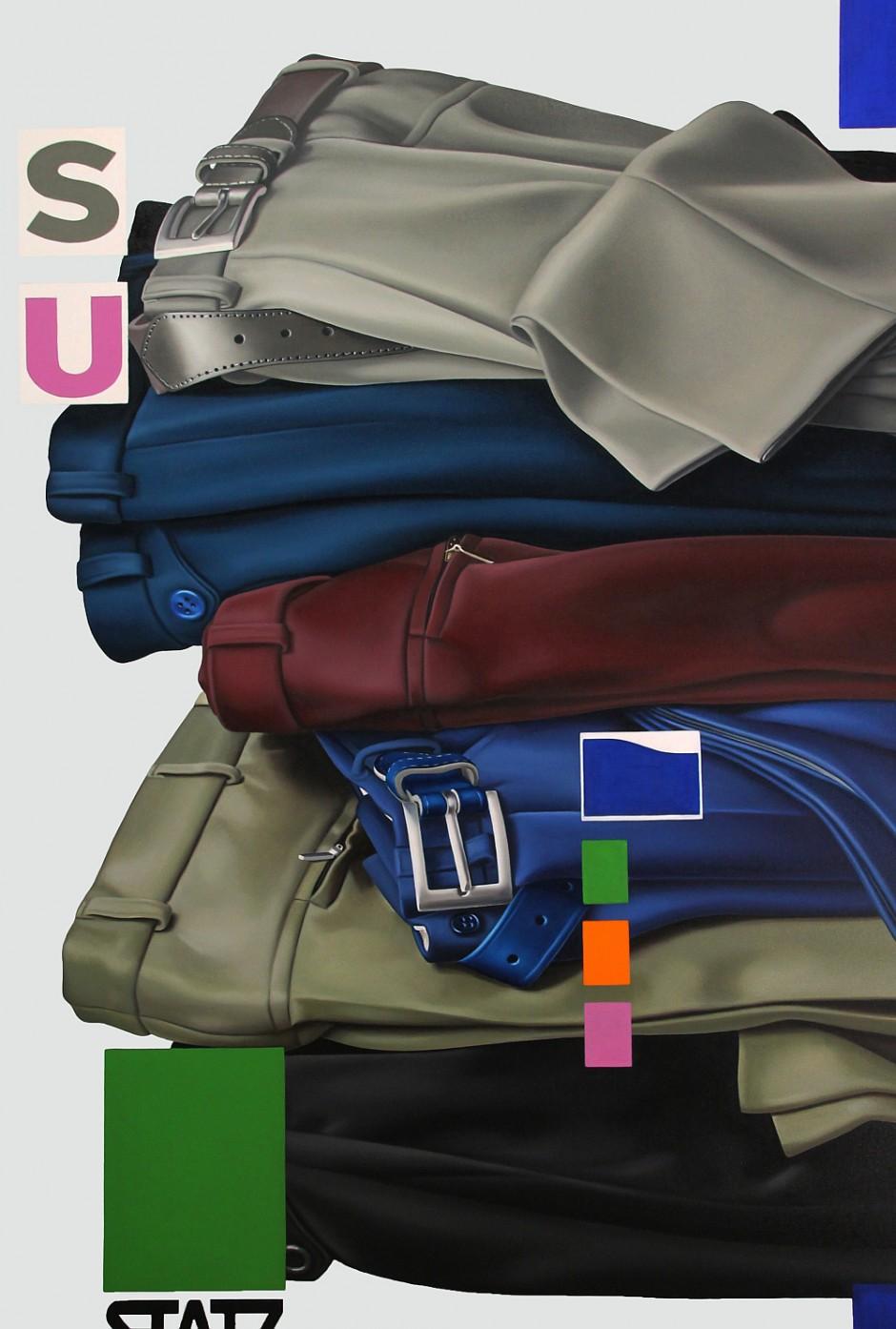 Hosen 3, Öl auf Leinwand, 150 x 100 cm, 2016