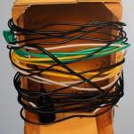 Kiste mit Kabeln, Öl auf Leinwand, 60 x 50 cm, 2014