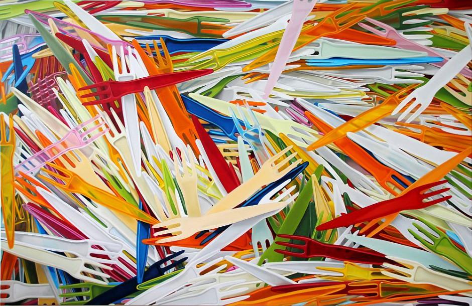 Pommesgabeln 2, 130 x 200 cm, Öl auf Leinwand, 2015