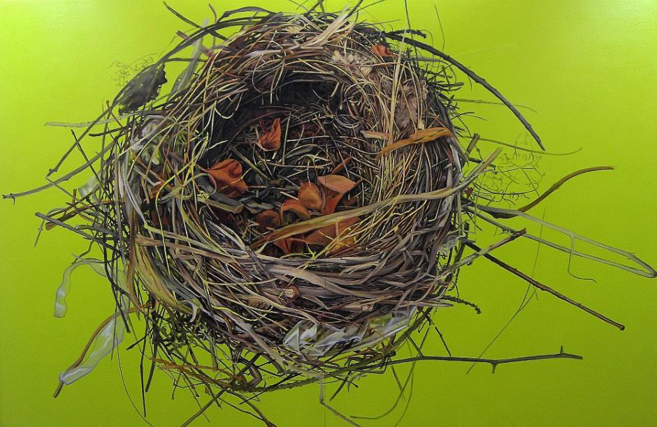 Vogelnest 8, Öl auf Leinen, 170 x 260 cm, 2008