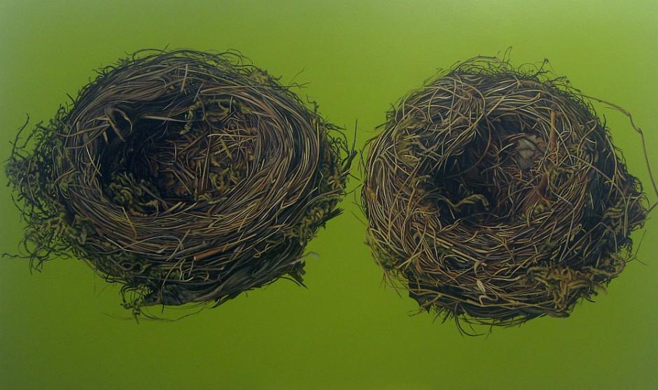 Vogelnester, Öl auf Leinwand, 120 x 200 cm, 2013