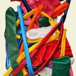 Modellierballons 6, Öl auf Leinwand, 120 x 100 cm, 2017