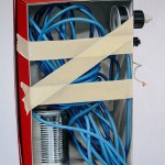 roter Karton, Öl auf Leinwand, 60 x 50 cm, 2014