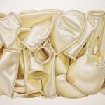 weisse Luftballons, Öl auf Leinen, 113 x 143 cm, 2015