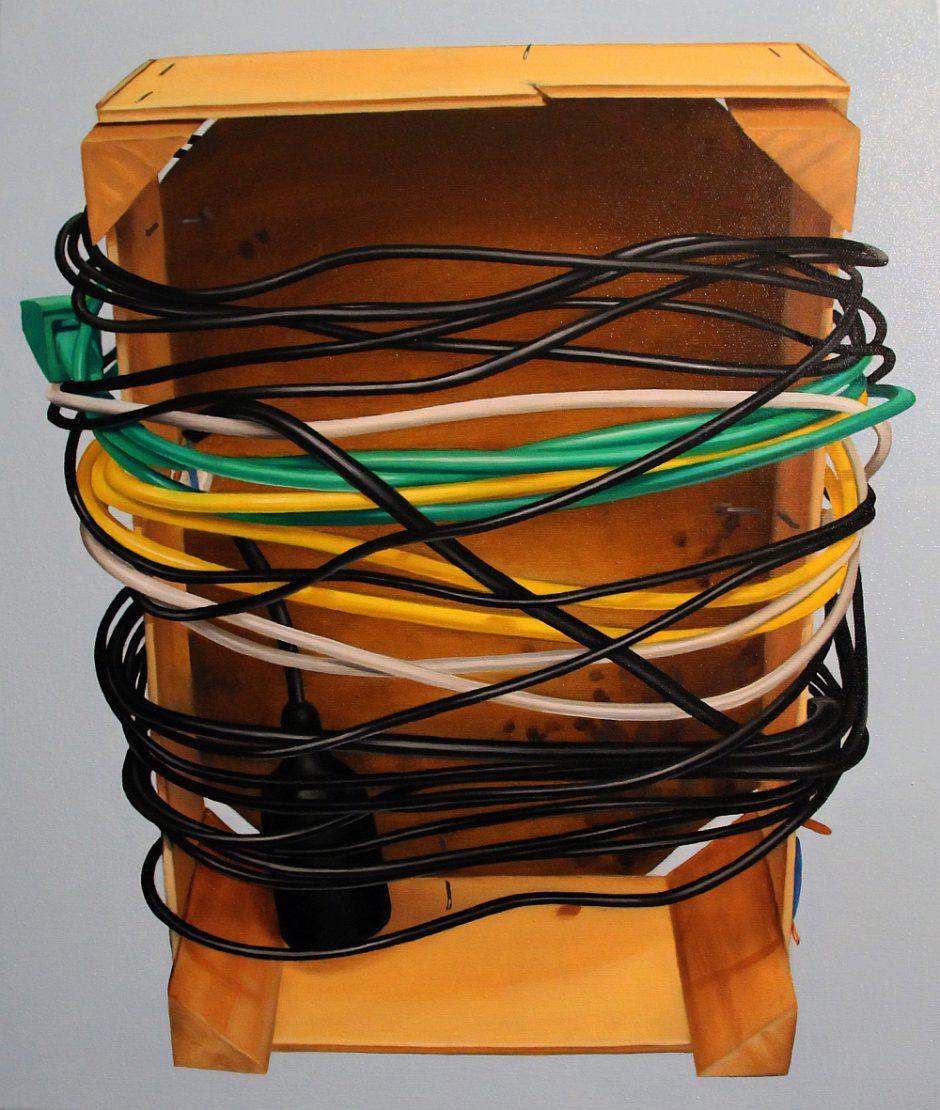 Kiste mit Kabeln