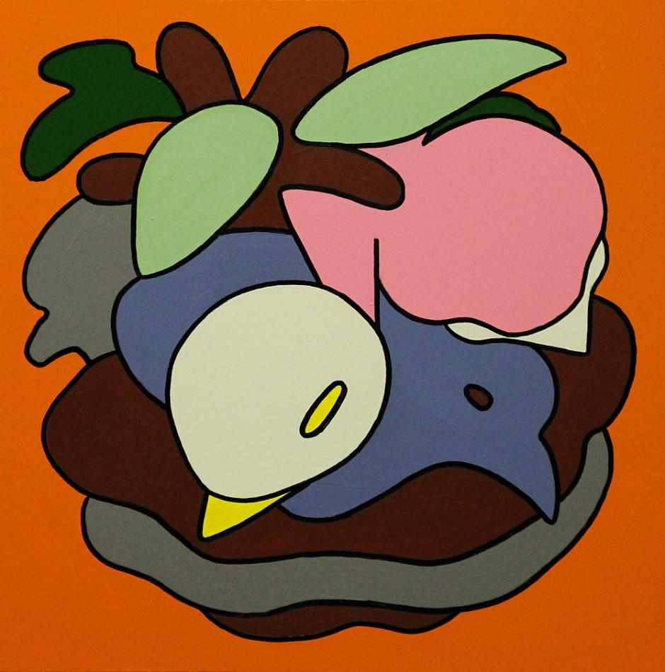 o.T.Acryl auf Holz, 33 x 33 x 9,5 cm